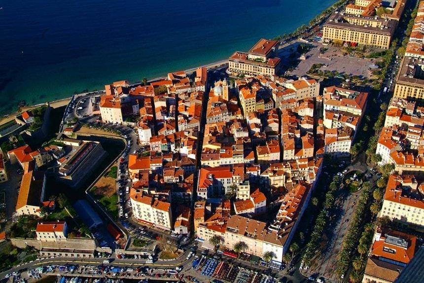 Le centre ville d'Ajaccio